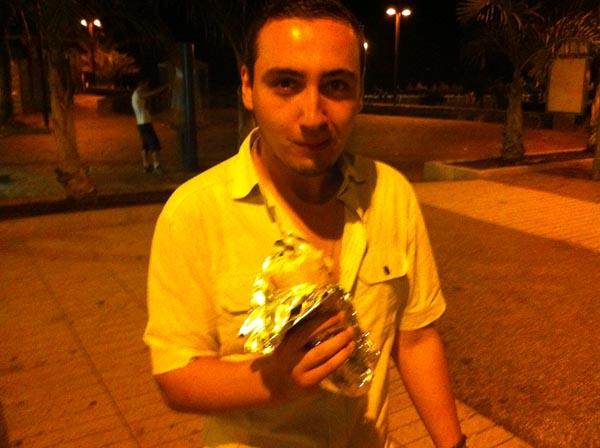 Michael & His Chicken Baguette