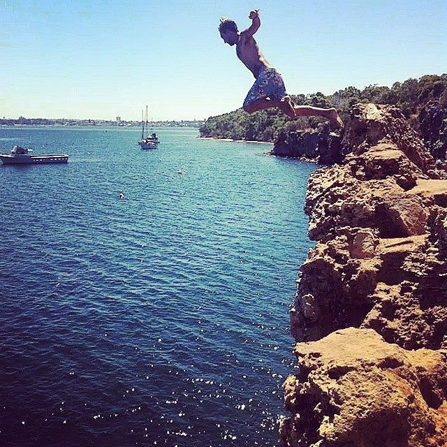 Michael Charalambous Cliff Jumping