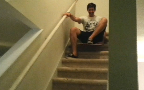 Kevan, Sliding Down The Stairs!