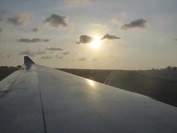 Plane to Bali, Indonesia