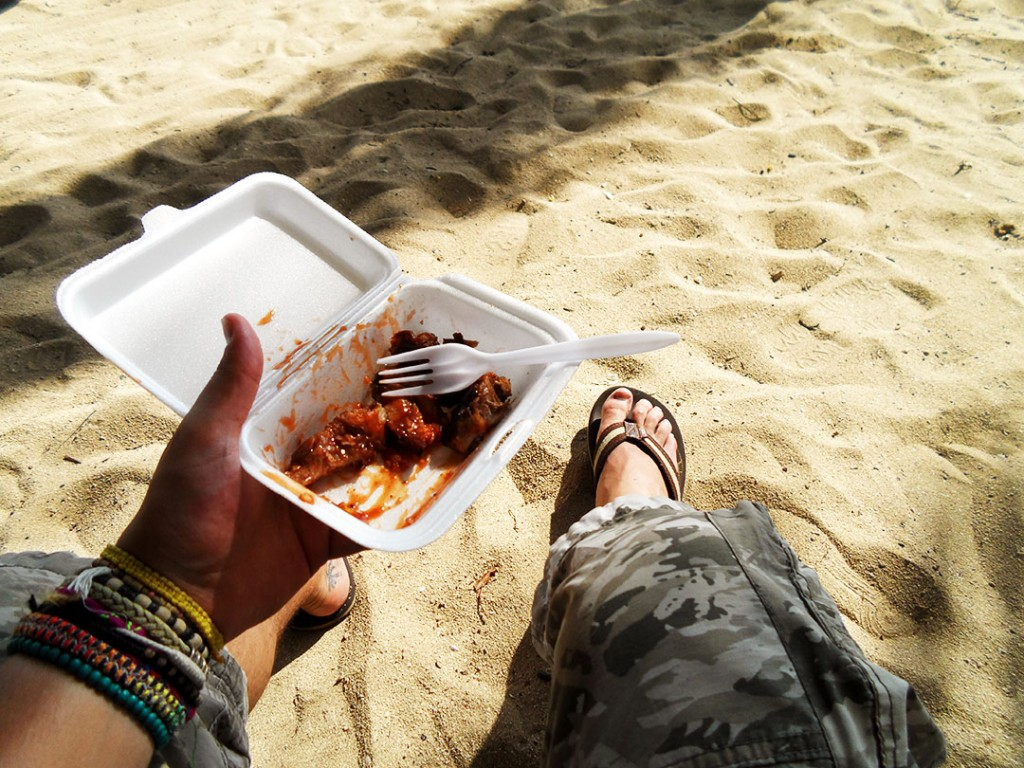 Jerk Chicken At The Beach
