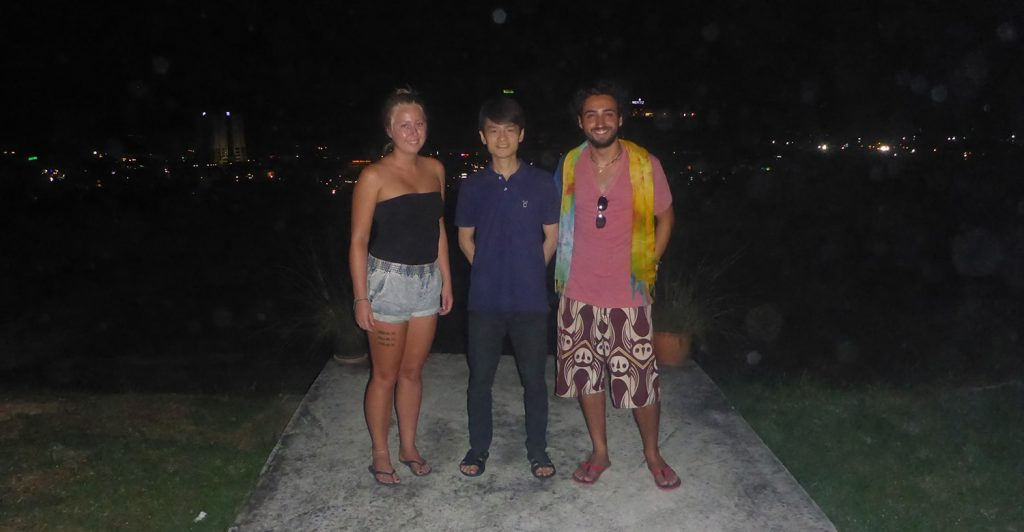Us with Dr Cham Looking Over Miri
